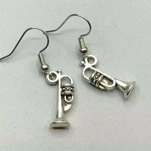 Trumpet Instrument Fashion Earrings